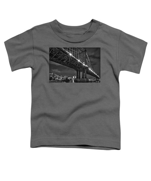 Manhattan Bridge Frames The Brooklyn Bridge Toddler T-Shirt