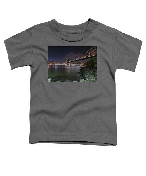 Manhattan Bridge Twinkles At Dusk Toddler T-Shirt