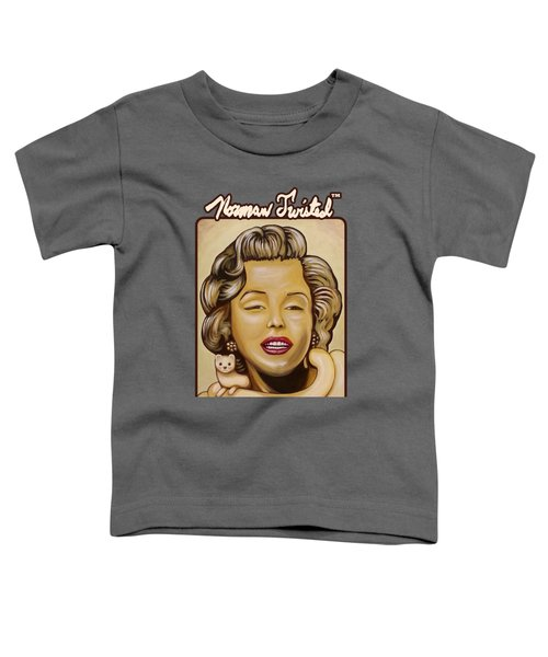 Marilyn In Gold Nt Toddler T-Shirt by Norman Twisted