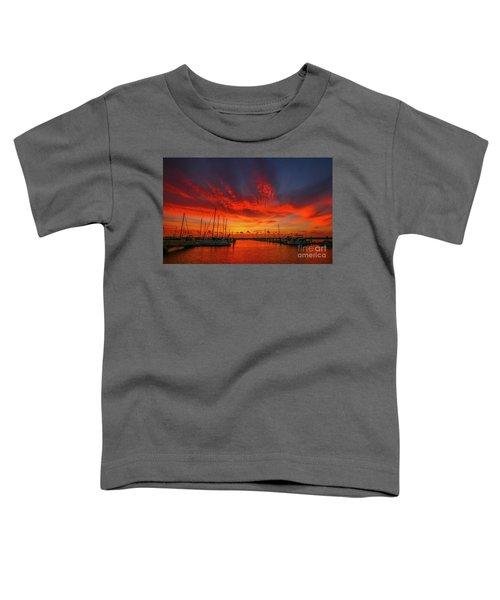 Marina Sunrise - Ft. Pierce Toddler T-Shirt