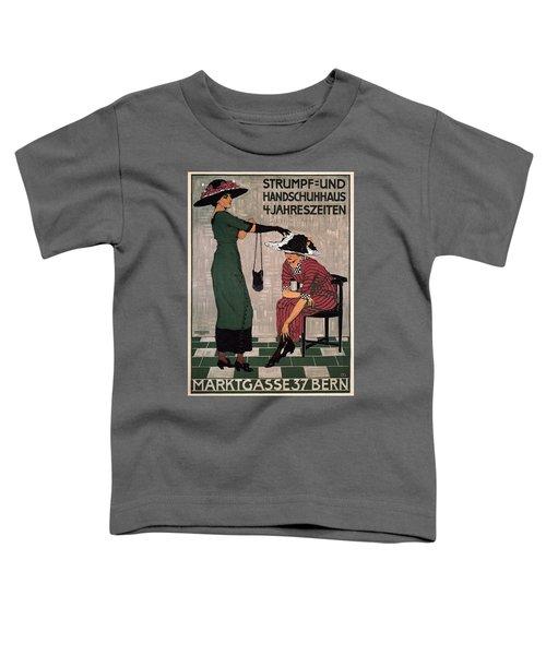 Marktgasse 37 - Bern, Switzerland - Stocking And Glove Store - Vintage Advertising Poster Toddler T-Shirt