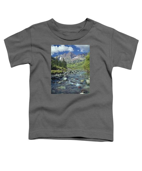 210404-maroon Bells And Creek  Toddler T-Shirt