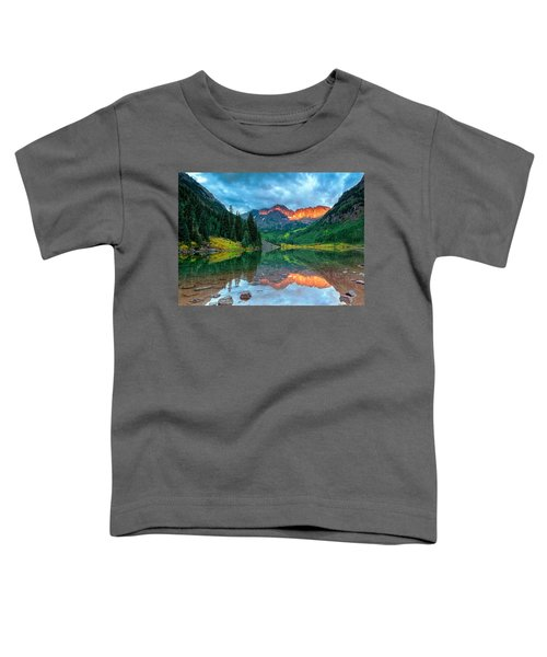 Maroon Bells Sunrise Toddler T-Shirt