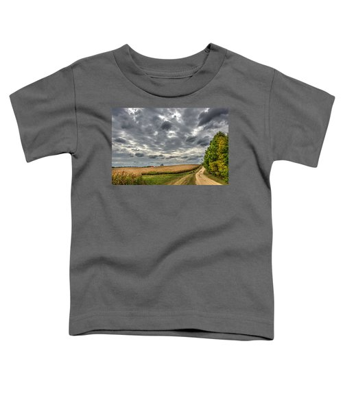 Maryland Country Road In Autumn At Twilight Toddler T-Shirt
