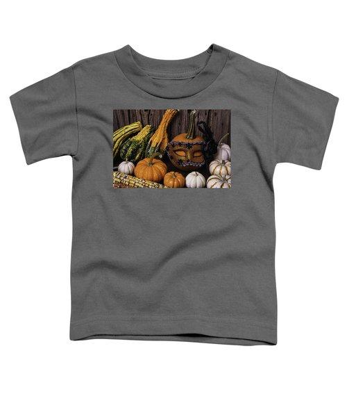 Masked Pumpkin Toddler T-Shirt