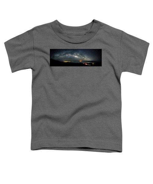 Mauna Kea Milky Way Panorama Toddler T-Shirt