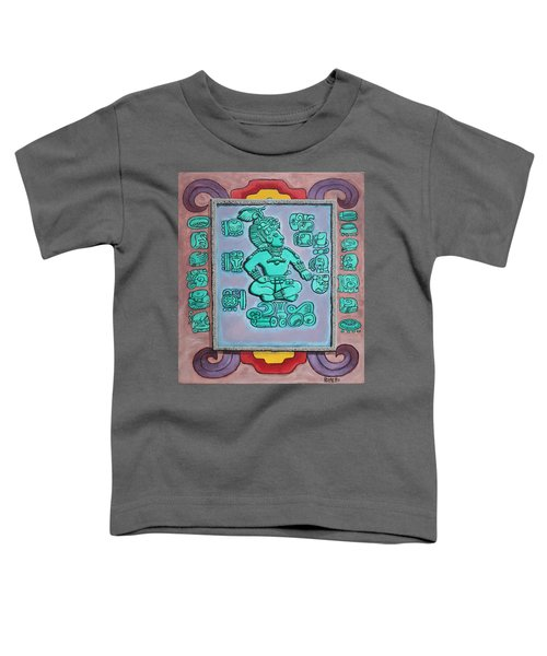 Toddler T-Shirt featuring the painting Mayan Prince by Antonio Romero
