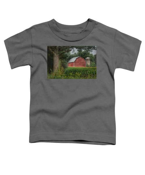 0027 - Mayville's Lapeer Road Red Toddler T-Shirt