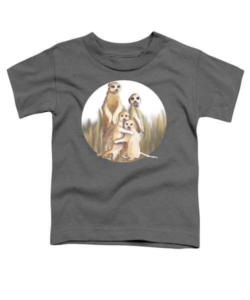 Meerkats  Toddler T-Shirt by April Burton
