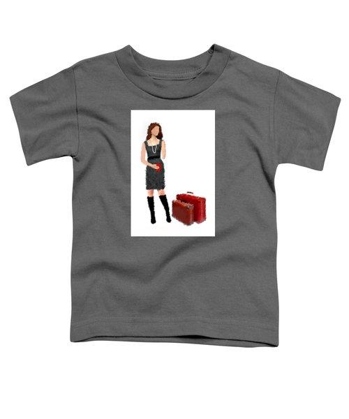 Toddler T-Shirt featuring the digital art Melanie by Nancy Levan