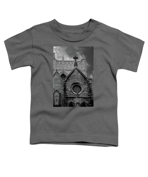 Memphis Cross In The Clouds Bw Toddler T-Shirt