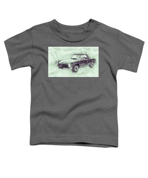 Mercedes-benz 280sl Roadster 3 - 1967 - Automotive Art - Car Posters Toddler T-Shirt