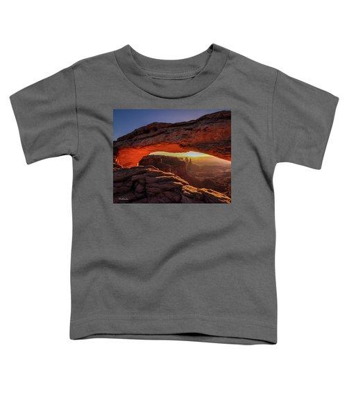 Mesa Arch At Sunrise 1, Canyonlands National Park, Utah Toddler T-Shirt