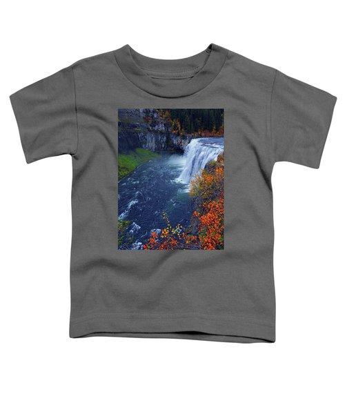 Mesa Falls In The Fall Toddler T-Shirt