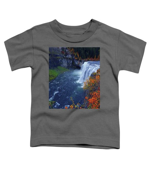Mesa Falls In The Fall Toddler T-Shirt