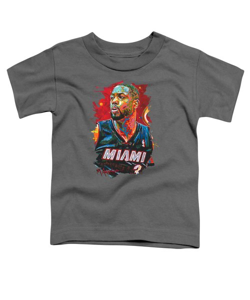 Miami Heat Legend Toddler T-Shirt by Maria Arango