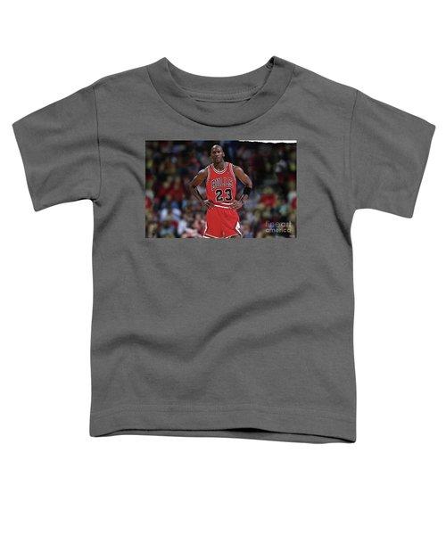Michael Jordan, Number 23, Chicago Bulls Toddler T-Shirt by Thomas Pollart