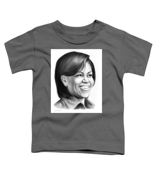 Michelle Obama Toddler T-Shirt by Greg Joens