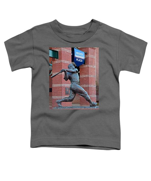 Mickey Mantle Toddler T-Shirt by Frozen in Time Fine Art Photography