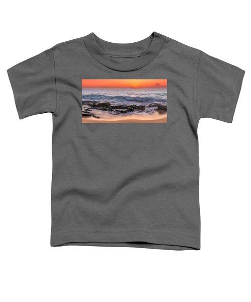 Middle Beach Sunrise Toddler T-Shirt