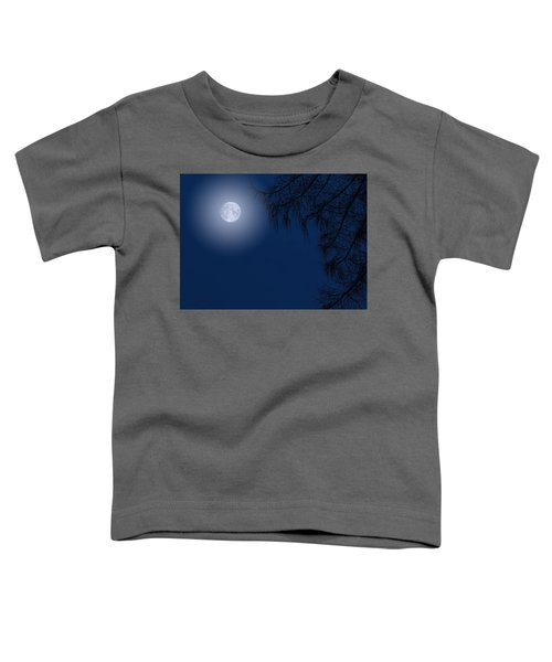 Midnight Moon And Night Tree Silhouette Toddler T-Shirt
