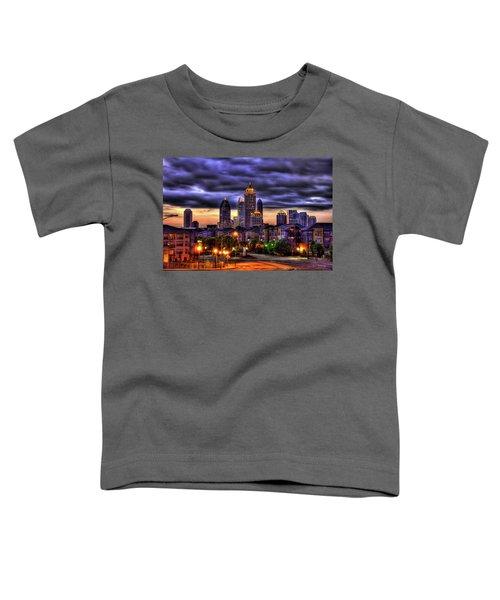 Midtown Atlanta Towers Over Atlantic Commons Art Toddler T-Shirt