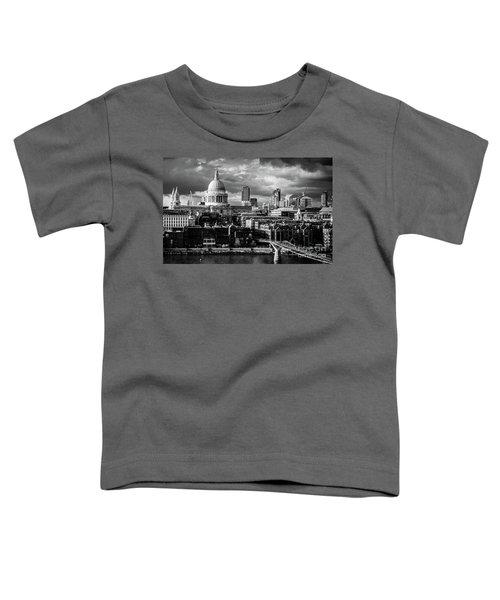 Milennium Bridge And St. Pauls, London Toddler T-Shirt