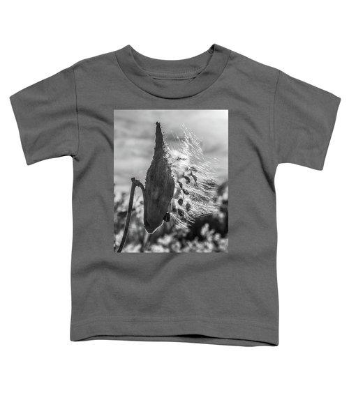 Milkweed Pod Back Lit B And W Toddler T-Shirt