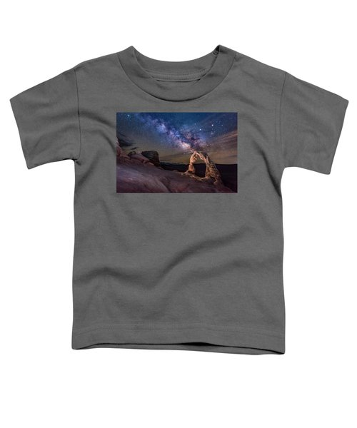 Milky Way And Delicate Arch Toddler T-Shirt