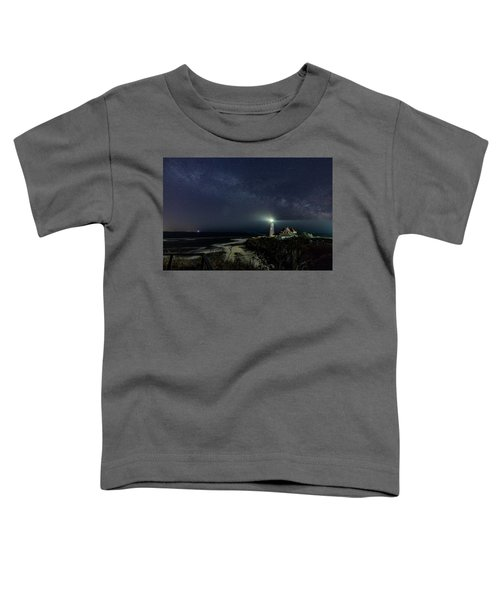 Milky Way At Portland Head Light Toddler T-Shirt