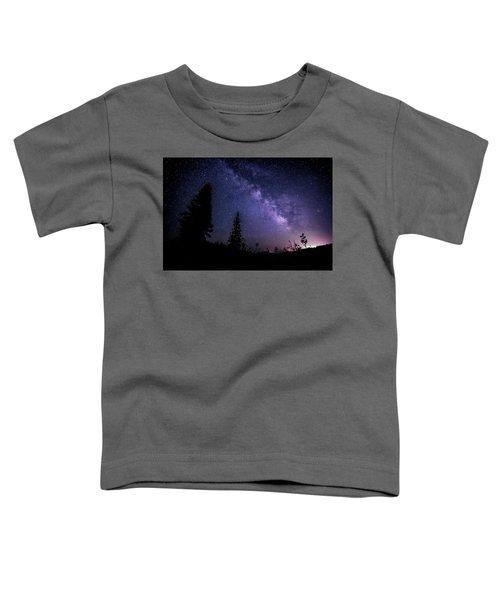 Milky Way At Powder Mountain Toddler T-Shirt