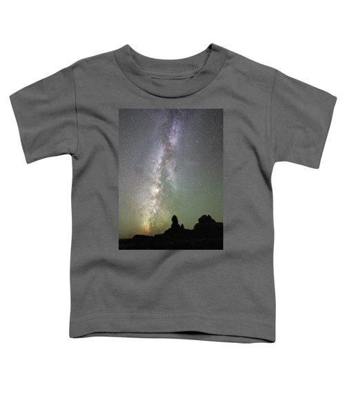 Milky Way Over Arches Np Four Toddler T-Shirt