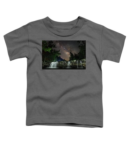 Milky Way Over Falling Waters Toddler T-Shirt