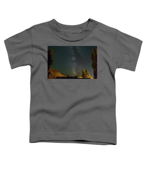 Milky Way Over Farmland In Central Oregon Toddler T-Shirt