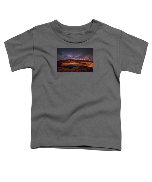 Milky Way Over Mesa Arch Toddler T-Shirt