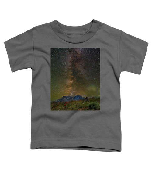 Milky Way Over Mount St Helens Toddler T-Shirt