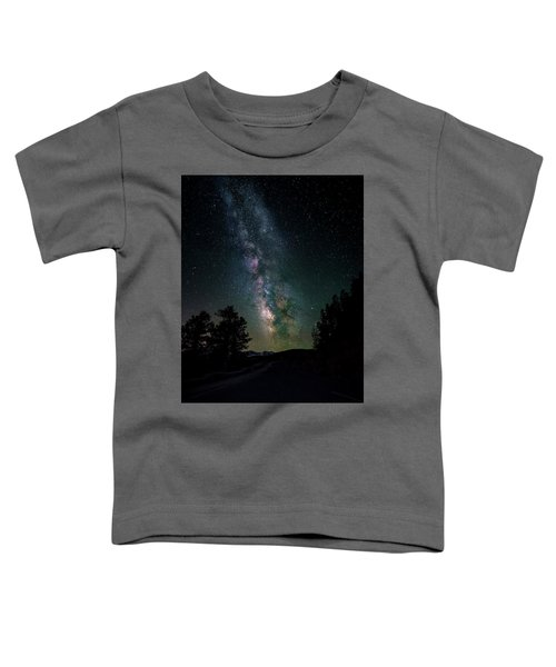 Milky Way Over Rocky Mountains Toddler T-Shirt