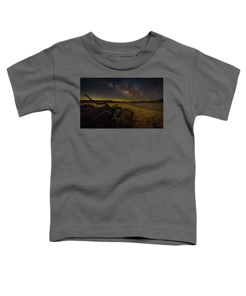 Milky Way Over The Canyon  Ranch Toddler T-Shirt