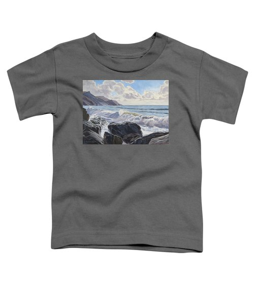 Toddler T-Shirt featuring the painting Millook Haven by Lawrence Dyer