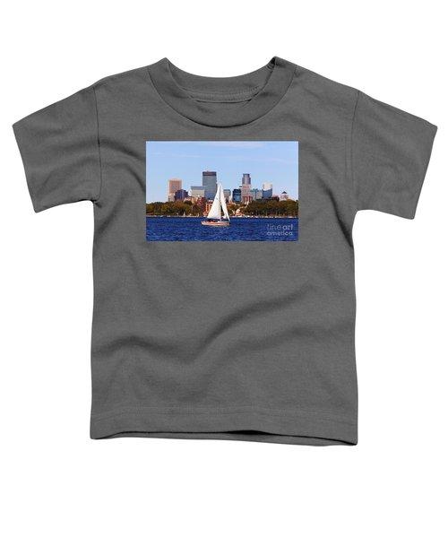 Minneapolis Skyline Lake Calhoun Sailing Toddler T-Shirt