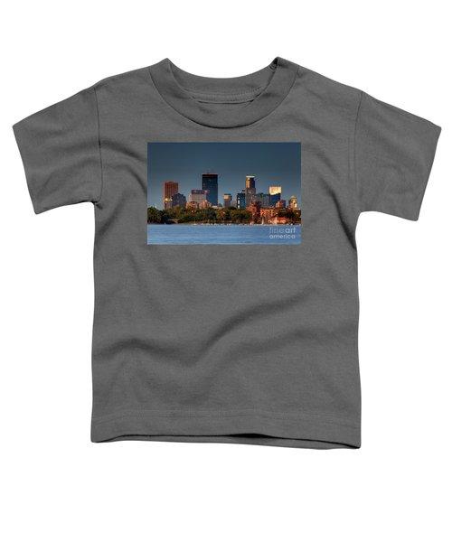 Minneapolis Skyline Photography Lake Calhoun Summer Evening Toddler T-Shirt
