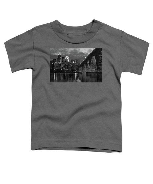 Minneapolis Stone Arch Bridge Bw Toddler T-Shirt