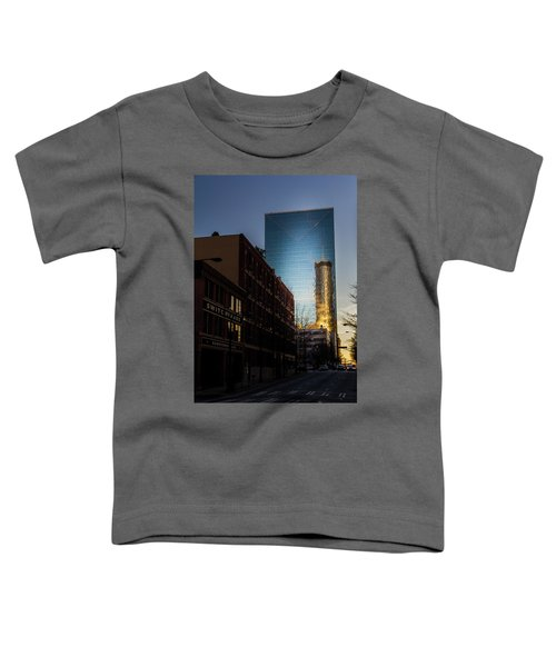 Mirror Reflection Of Peachtree Plaza Toddler T-Shirt