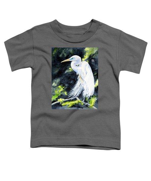 Miss April - Great Egret Toddler T-Shirt