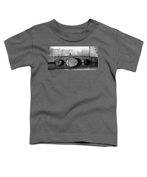 Misty Morning In Bruges  Toddler T-Shirt