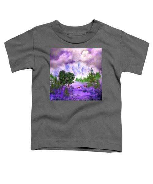 Misty Mountain Deer Toddler T-Shirt