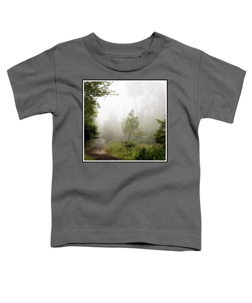 Misty Road At Forest Edge, Pocono Mountains, Pennsylvania Toddler T-Shirt