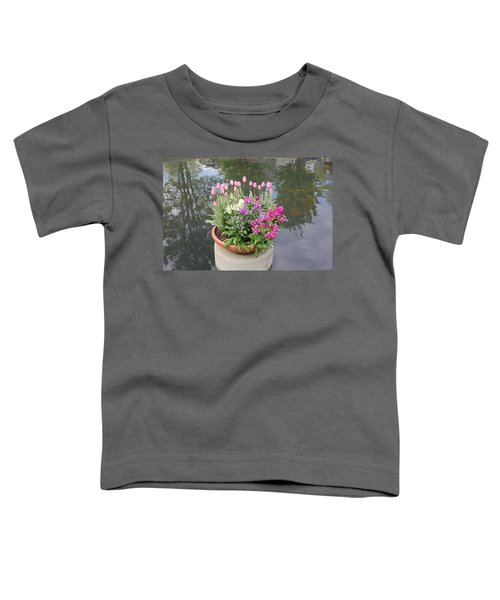 Mixed Flower Planter Toddler T-Shirt