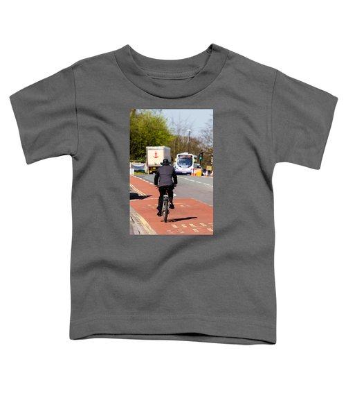 Modern Cowboy On Bike Toddler T-Shirt
