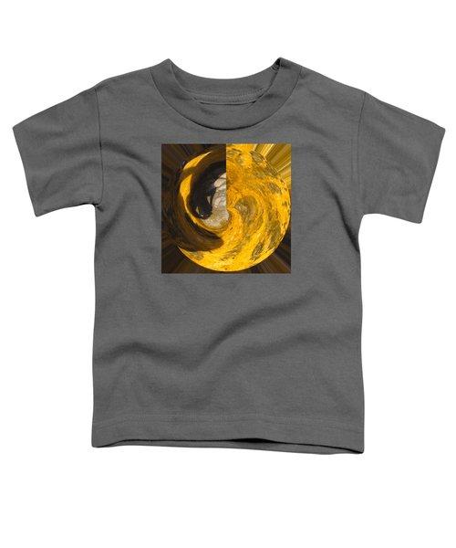 Molten Gold Planet Toddler T-Shirt